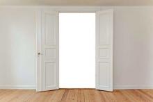 Чистая дверь