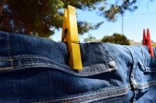 Как сушить джинсы